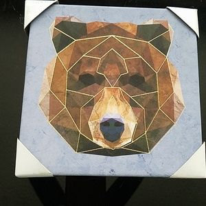Geometric Bear decor